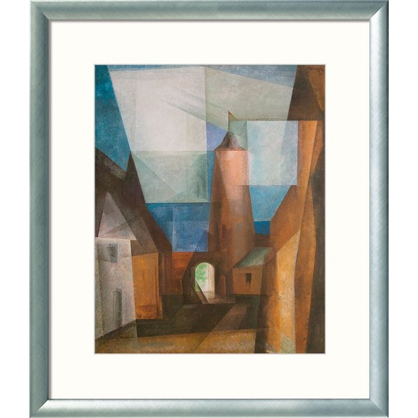 Lyonel Feininger: Bild 'Der Grützturm in Treptow an der Rega' (1928), gerahmt