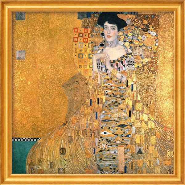 Gustav Klimt: Bild 'Adele Bloch-Bauer I' (1907), gerahmt