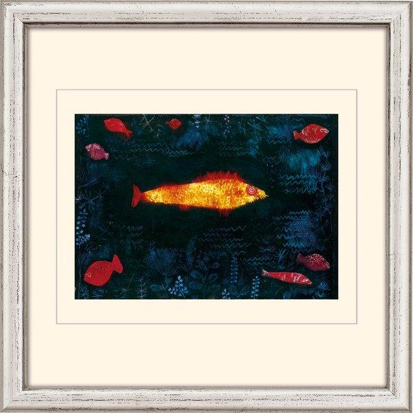 Paul Klee: Bild 'Der goldene Fisch' (1925), gerahmt