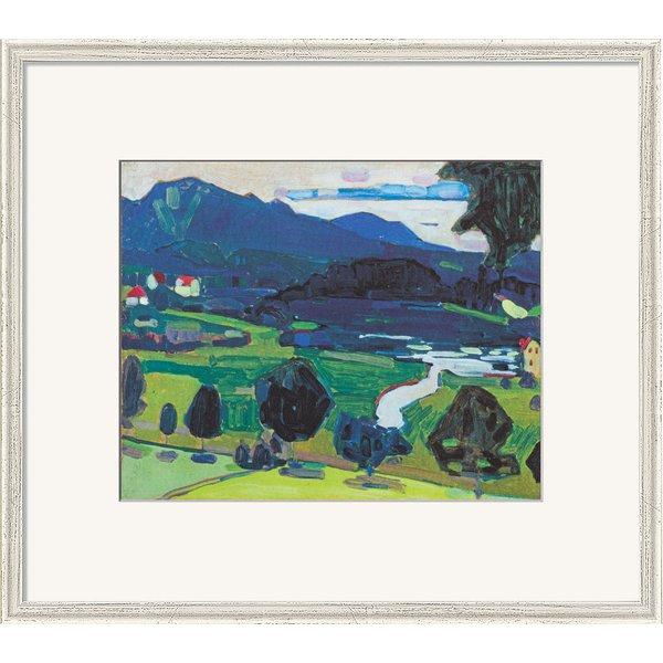 Wassily Kandinsky: Bild 'Murnau - Blick über den Staffelsee' (1902), gerahmt