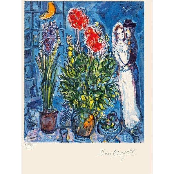 Marc Chagall: Bild 'Les Mariés', ungerahmt