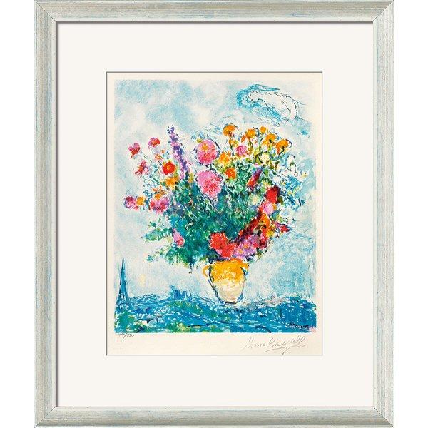 Marc Chagall: Bild 'Le Bouquet et la Tour Eiffel', gerahmt