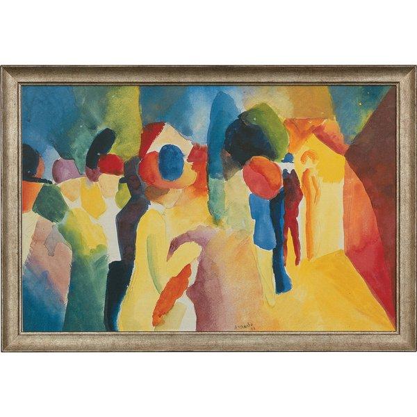 August Macke: Bild 'Mit gelber Jacke' (1913), gerahmt