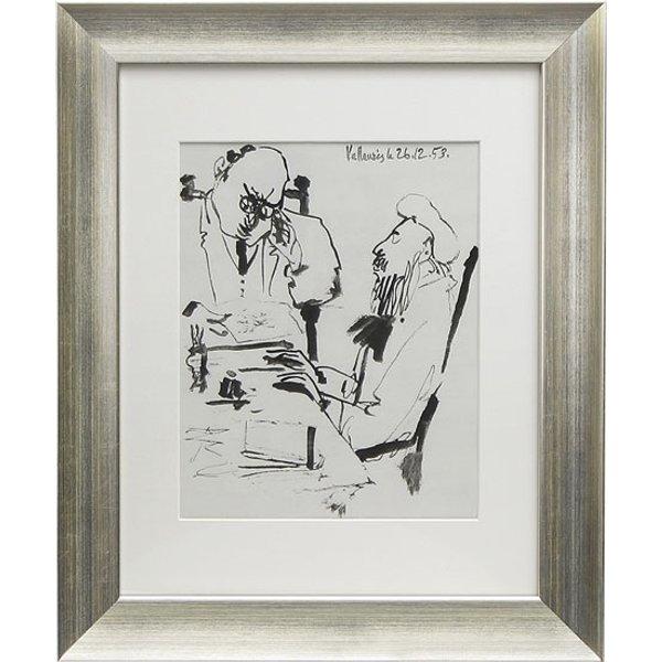 Pablo Picasso: Bild 'Ohne Titel' (1953), gerahmt
