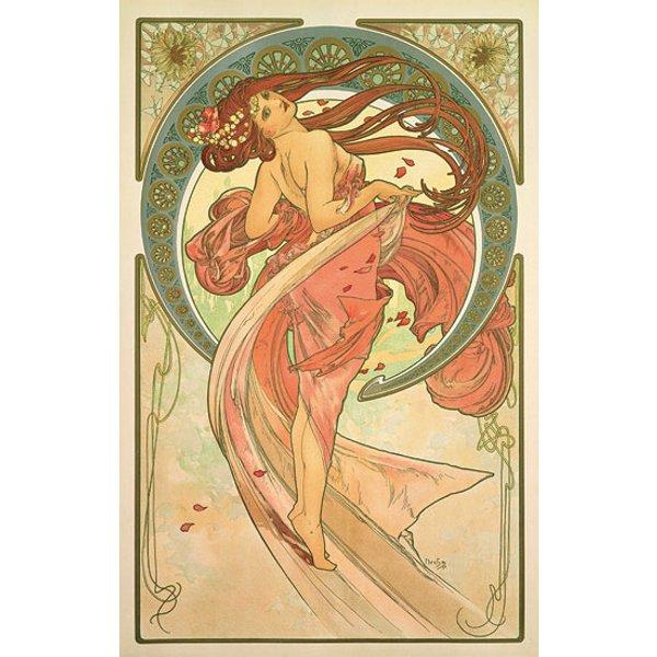 Alphonse Mucha: Glasbild 'Der Tanz' (1898)
