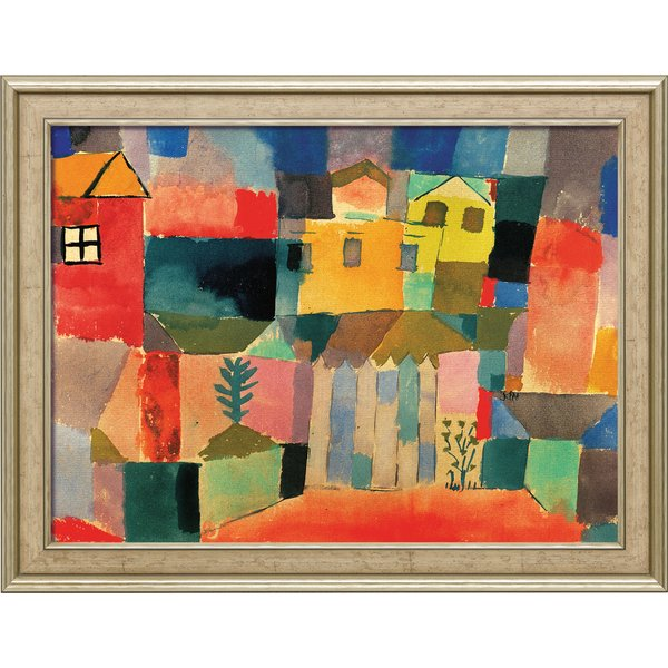 Paul Klee: Bild 'Häuser am Meer' (1914), gerahmt