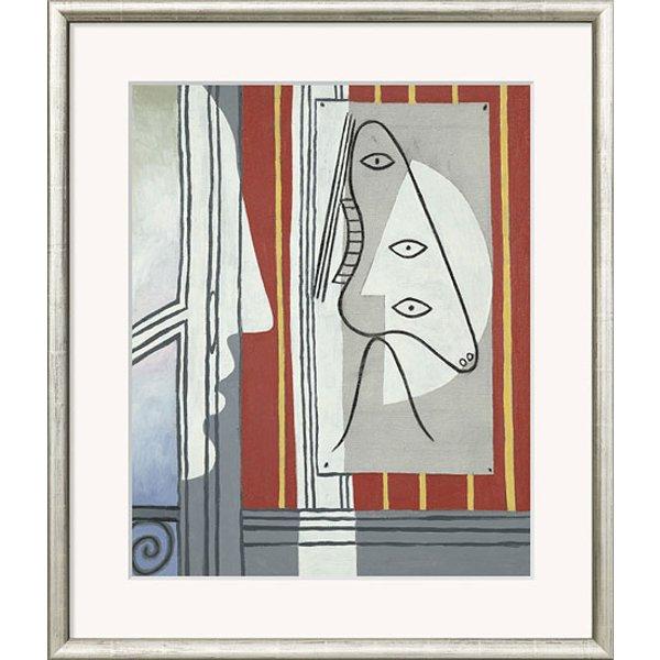 Pablo Picasso: Bild 'Figur und Profil' (1928), gerahmt