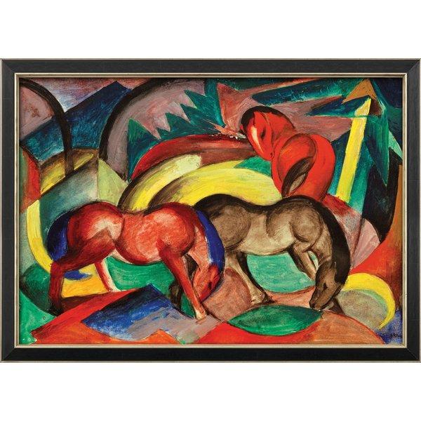 Franz Marc: Bild 'Drei Pferde' (1912), gerahmt
