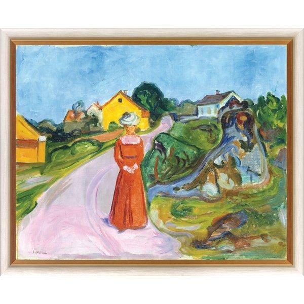 Edvard Munch: Bild 'Dorfstraße in Asgardstrand' (1902), gerahmt