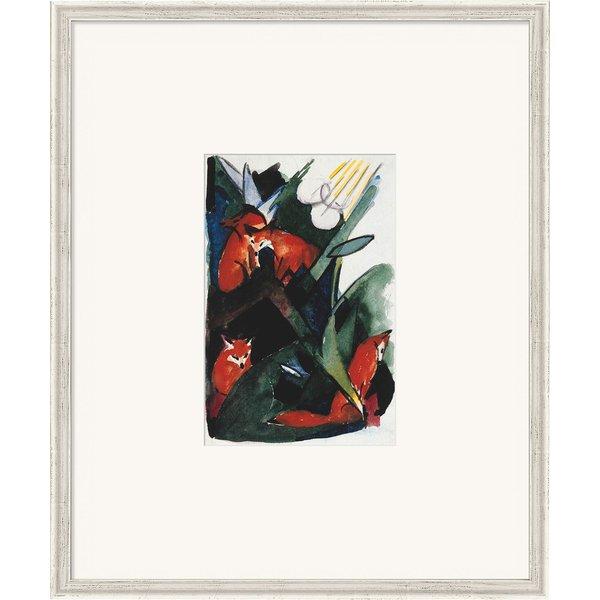 Franz Marc: Bild 'Vier Füchse, Postkarte an Wassily Kandinsky' (1913), gerahmt