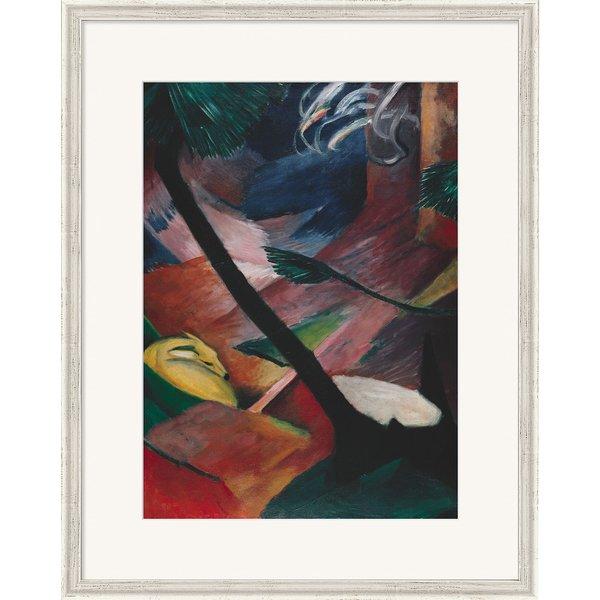 Franz Marc: Bild 'Reh im Walde II' (1912), gerahmt