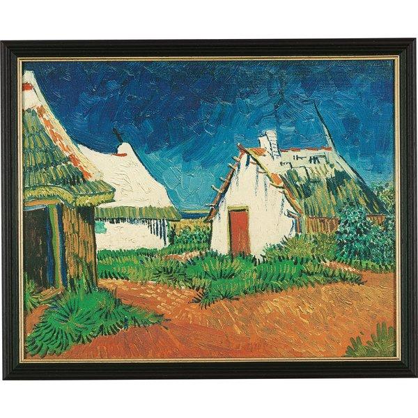Vincent van Gogh: Bild 'Drei weiße Hütten in Saintes-Maries-de-la-Mer' (1888), gerahmt
