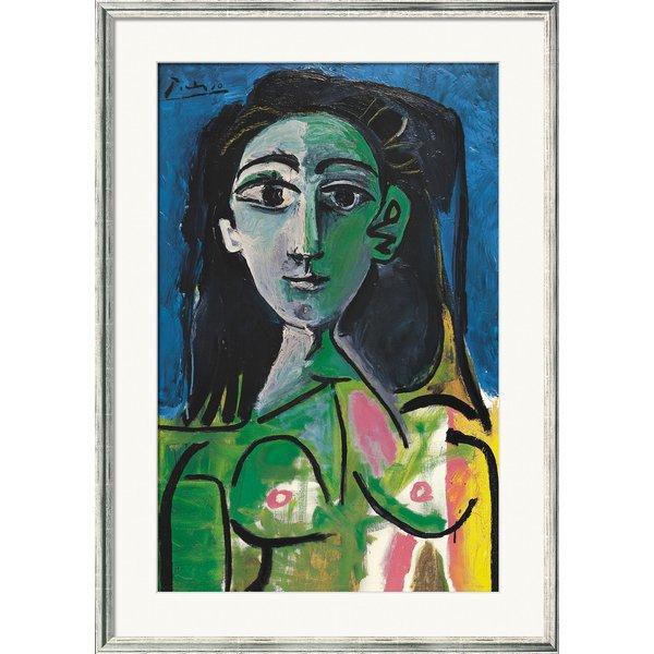 Pablo Picasso: Bild 'Buste de Femme (Jacqueline)' (1963), gerahmt