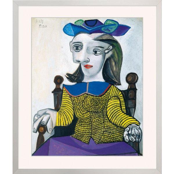 Pablo Picasso: Bild 'Der gelbe Pullover' (1939), gerahmt