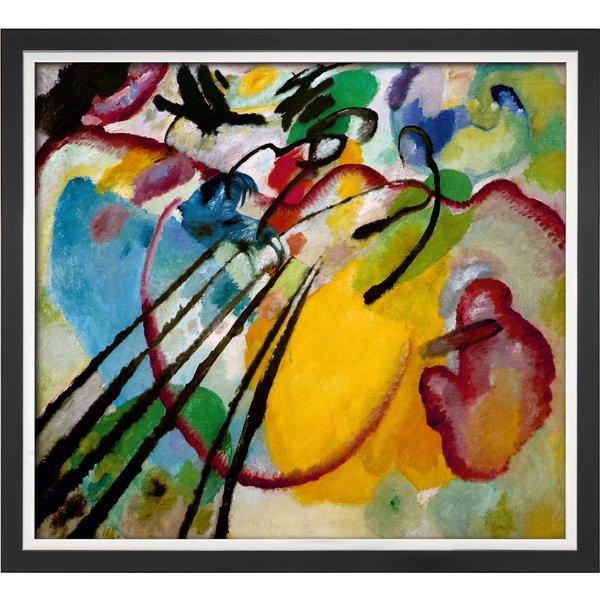 Wassily Kandinsky: Bild 'Improvisation 26 (Rudern)' (1912), gerahmt