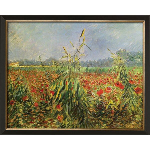 Vincent van Gogh: Bild 'Grüne Kornhalme' (1888), gerahmt