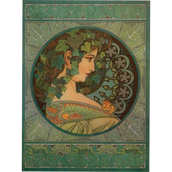Alphonse Mucha: Glasbild 'Efeu' (1901)