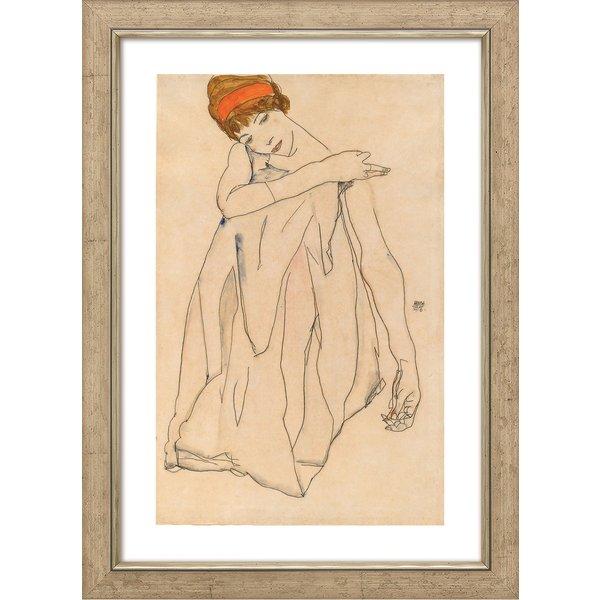 Egon Schiele: Bild 'Die Tänzerin' (1913), gerahmt