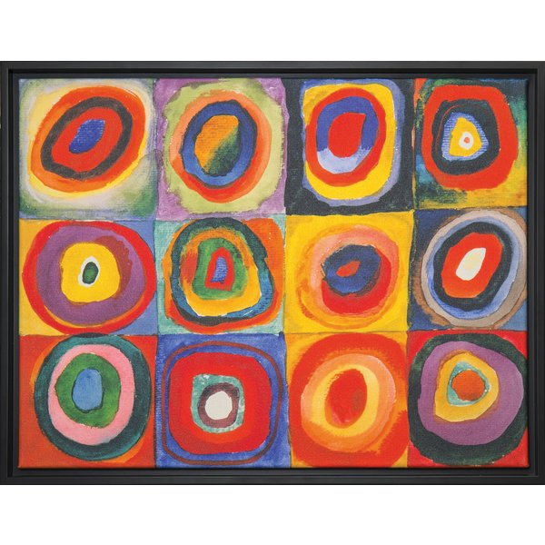 Wassily Kandinsky: Bild 'Farbstudie Quadrate' (1913), gerahmt
