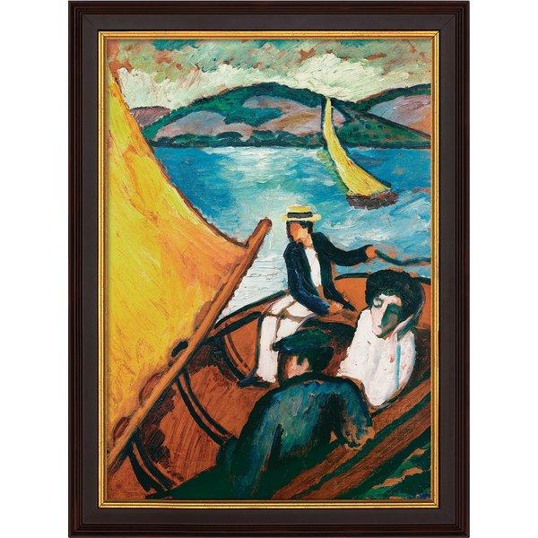 August Macke: Bild 'Segelboote am Tegernsee' (1910), gerahmt