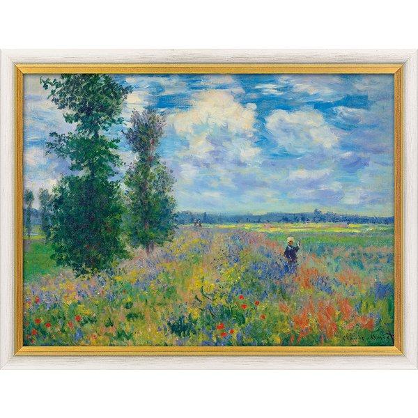 Claude Monet: Bild 'Les Coquelicots (environs de Argenteuil) - Mohnfeld bei Argenteuil', gerahmt