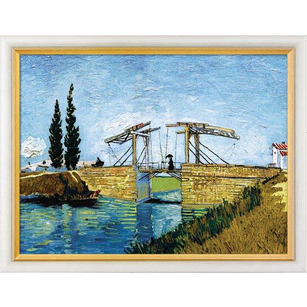 Vincent van Gogh: Bild 'Die Zugbrücke' (1888), gerahmt