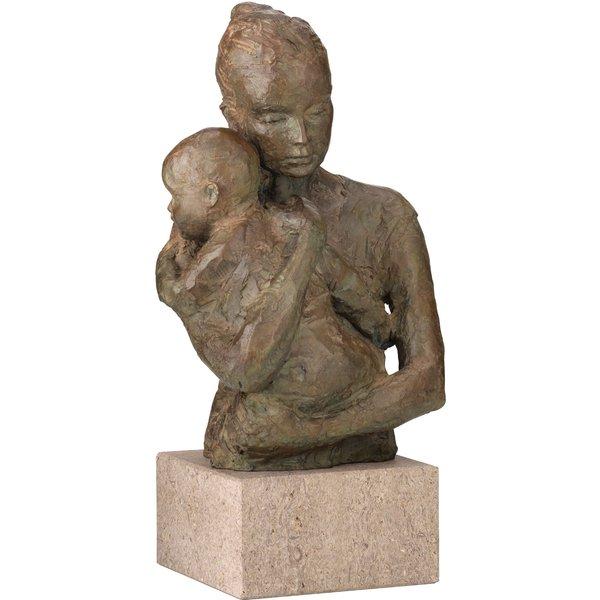 Valerie Otte: Skulptur 'Geborgenheit' (Version mit Sockel), Bronze
