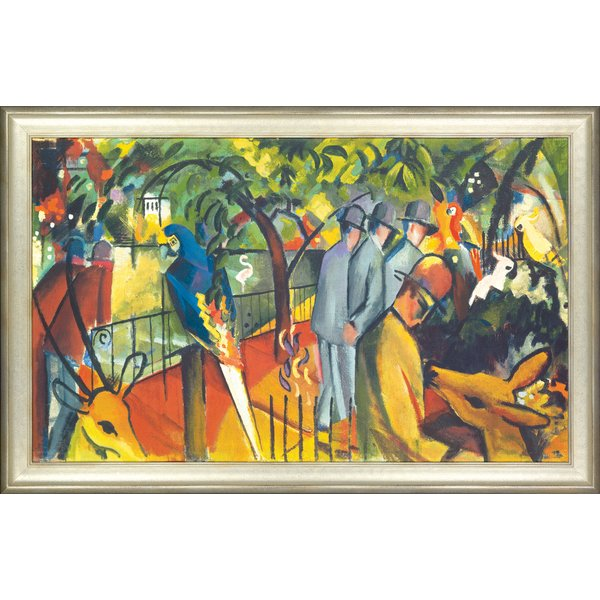 August Macke: Bild 'Zoologischer Garten I' (1912), gerahmt