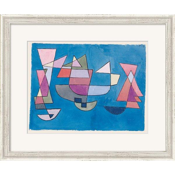 Paul Klee: Bild 'Segelschiffe' (1927), gerahmt