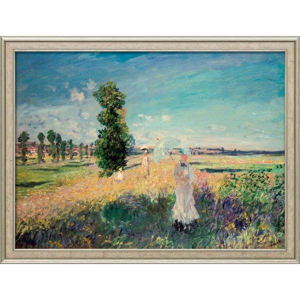 Claude Monet: Bild 'La Promenade (Der Spaziergang, Argenteuil)' (1875), gerahmt