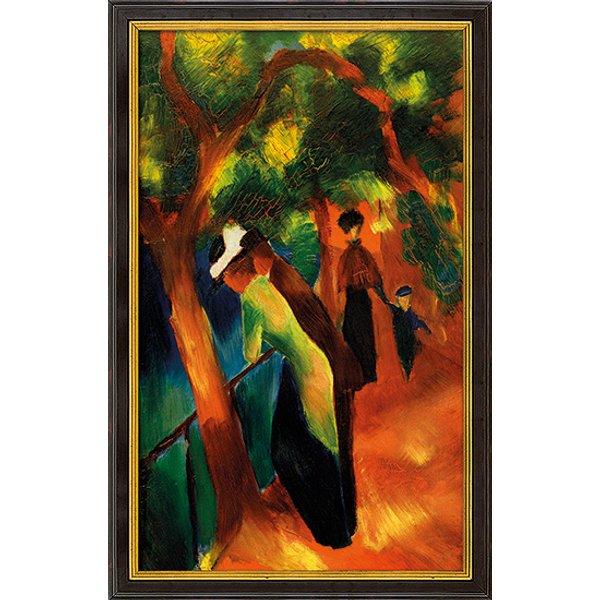 August Macke: Bild 'Sonniger Weg' (1913), gerahmt