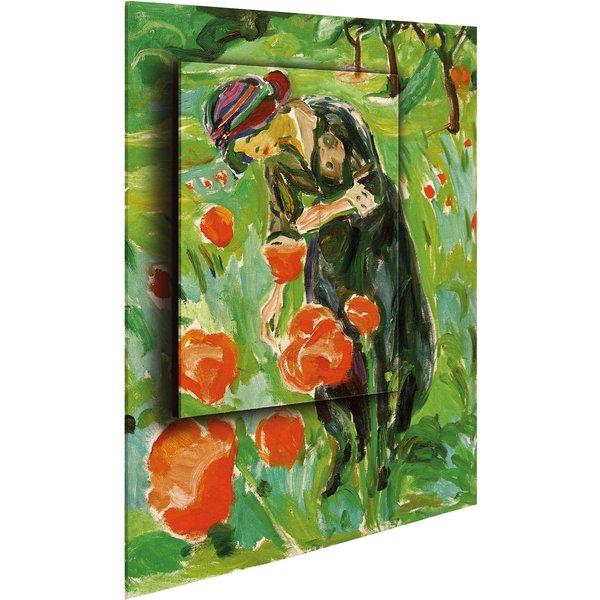 Edvard Munch: Bild 'Frau mit Mohnblumen' (1918/19), Dimension 2