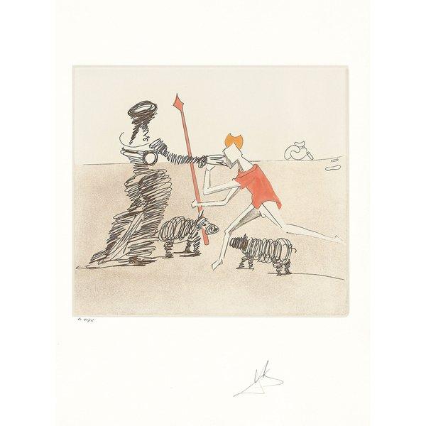 Salvador Dalí: Bild 'Don Quijote (K) - Pastorale' (1980), ungerahmt