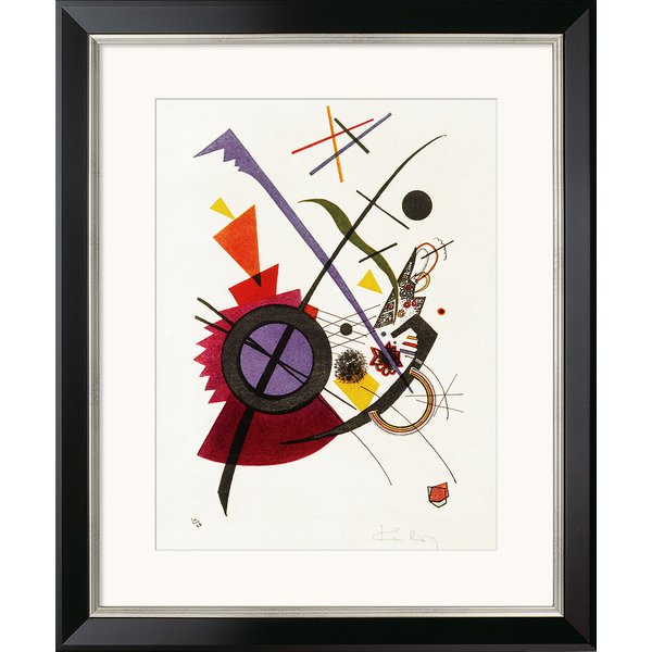 Wassily Kandinsky: Bild 'Violett' (1923), gerahmt