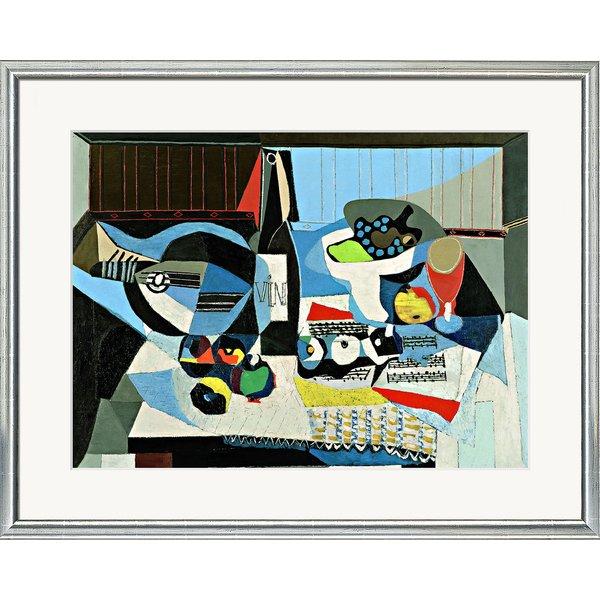 Pablo Picasso: Bild 'Die Weinflasche' (1926), gerahmt