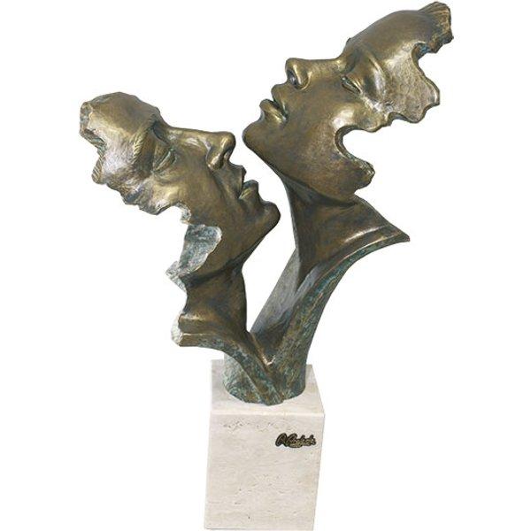 Angeles Anglada: Skulptur 'Leidenschaft', Kunstguss Steinoptik