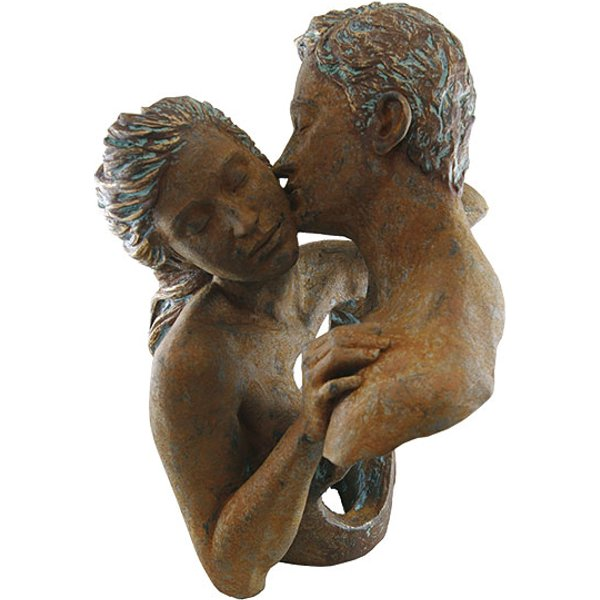 Angeles Anglada: Skulptur 'Contact', Kunstguss Steinoptik