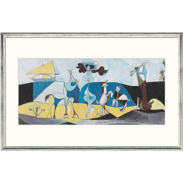 Pablo Picasso: Bild 'Die Freude des Lebens' (1946), gerahmt