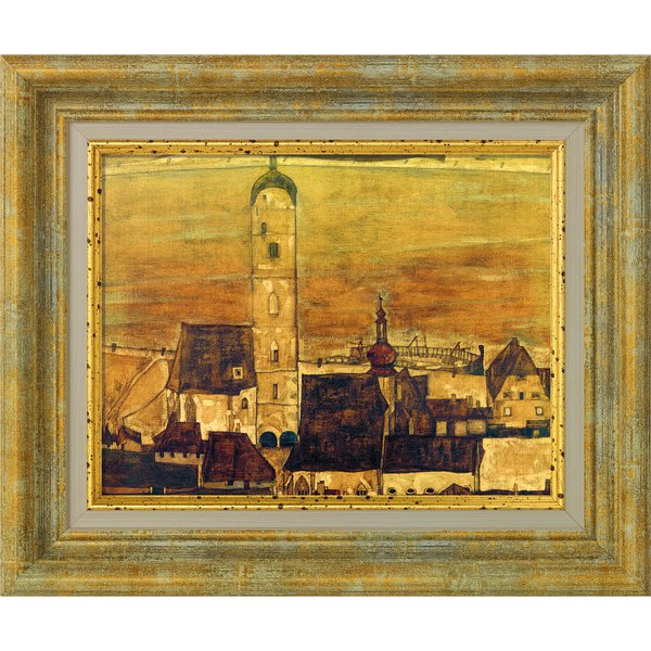 Egon Schiele: Bild 'Stadt Stein' (1913), gerahmt