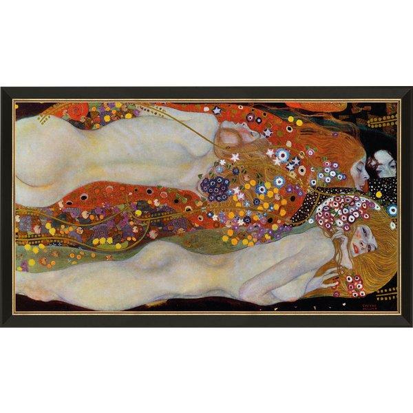 Gustav Klimt: Bild 'Wasserschlangen II' (um 1907), gerahmt