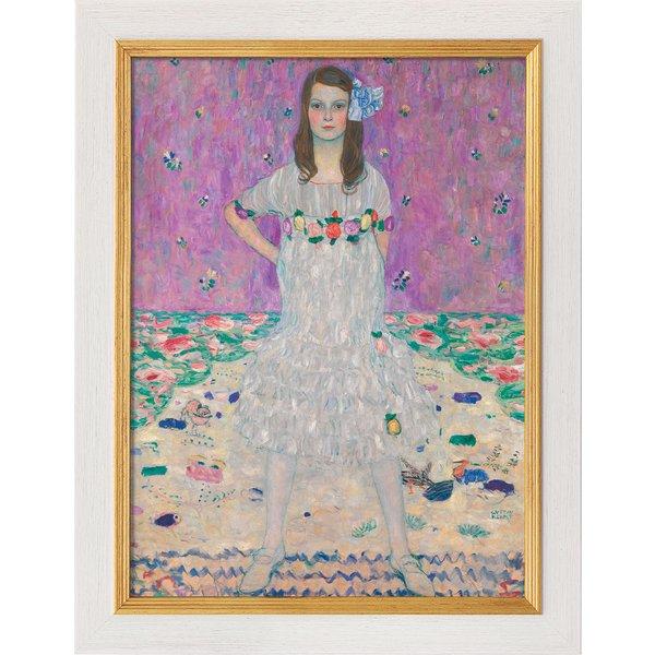 Gustav Klimt: Bild 'Bildnis Mäda Primavesi' (um 1912), gerahmt