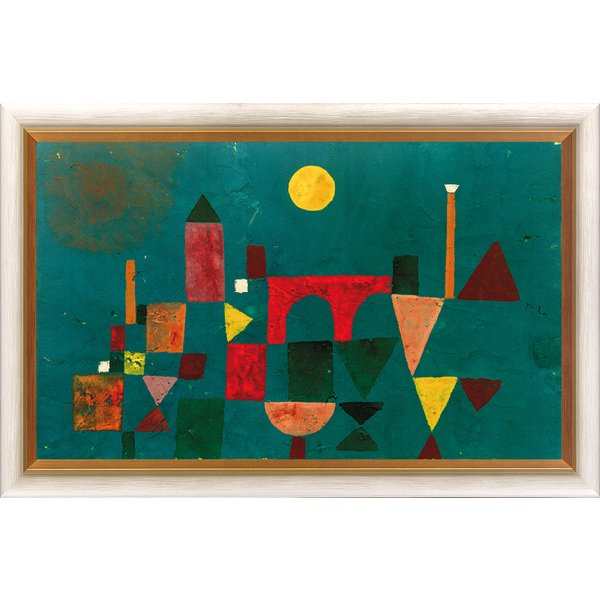 Paul Klee: Bild 'Rote Brücke' (1928), gerahmt