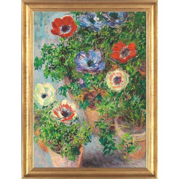 Claude Monet: Bild 'Anemonen in einer Vase' (1885), gerahmt