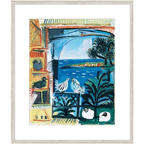 Pablo Picasso: Bild 'Die Tauben II' (1957), gerahmt