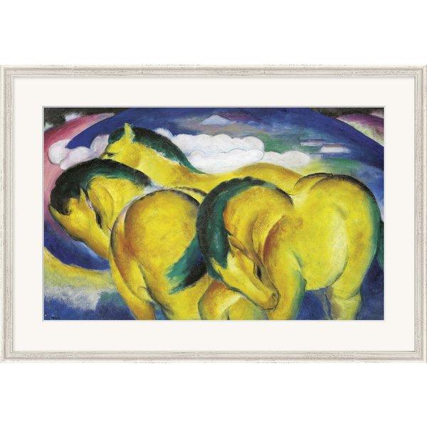 Franz Marc: Bild 'Die kleinen gelben Pferde' (1912), gerahmt