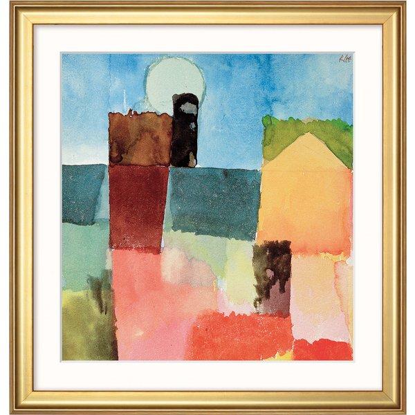 Paul Klee: Bild 'Mondaufgang (St. Germain)' (1915), gerahmt