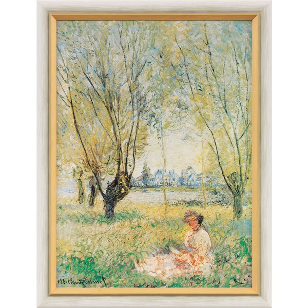 Claude Monet: Bild 'Frau unter den Weiden', gerahmt