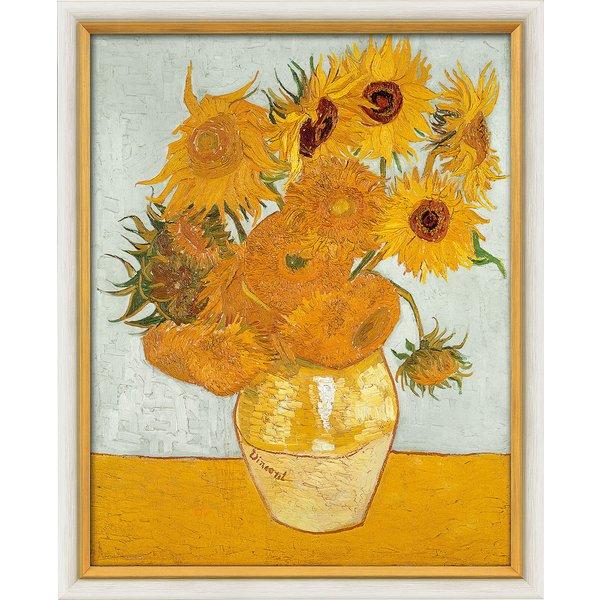 Vincent van Gogh: Bild 'Zwölf Sonnenblumen in einer Vase' (1888), gerahmt