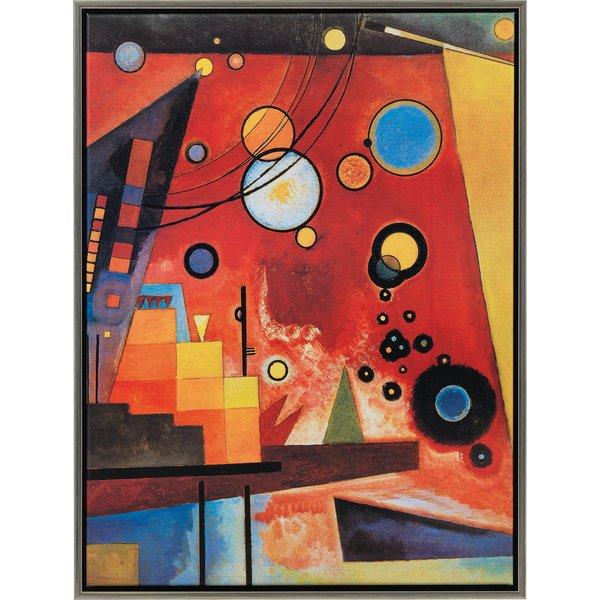Wassily Kandinsky: Bild 'Schweres Rot' (1924), gerahmt
