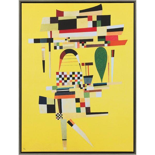 Wassily Kandinsky: Bild 'Die gelbe Leinwand' (1938), gerahmt